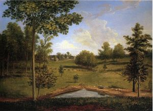 Charles Willson Peale - Landscape Looking Towards Sellers Hall from Mill Bank
