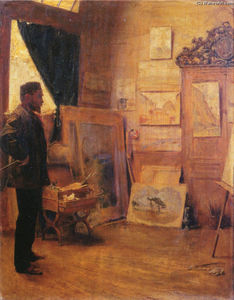 Émile Friant - The Landscape Painter in his Studio