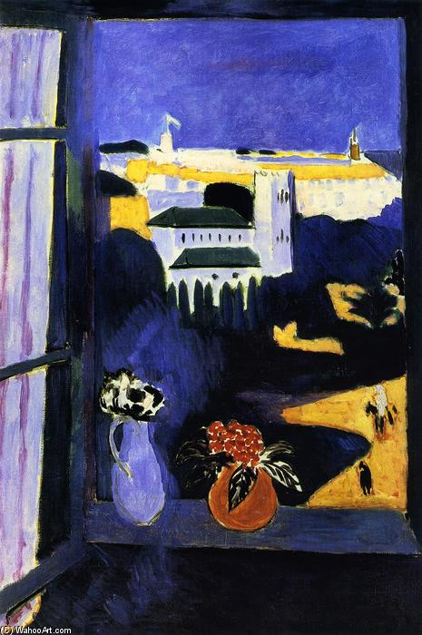 Landscape viewed from a Window, Oil On Canvas by Henri Matisse (1869-1954, France)