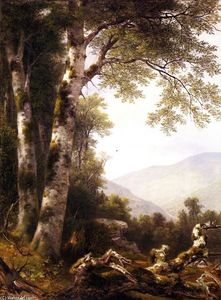 Asher Brown Durand - Landscape with Birches