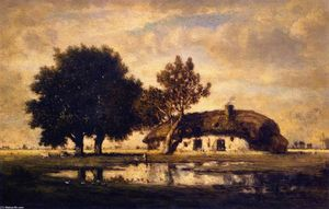 Gilbert Munger - Landscape with Cottage
