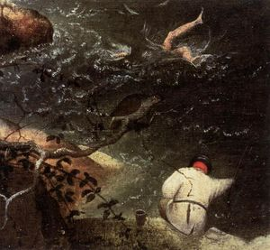 Pieter Bruegel The Elder - Landscape with the Fall of Icarus (detail)