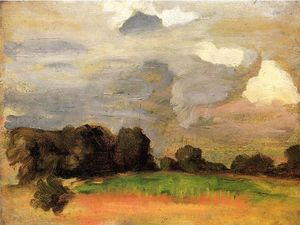 Thomas Pollock Anshutz - Landscape with Grey Sky
