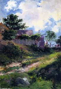 Mathias Joseph Alten - Landscape with House and Fence