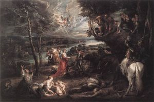 Peter Paul Rubens - Landscape with Saint George and the Dragon