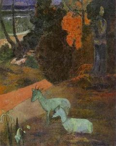 Paul Gauguin - Landscape with two goats