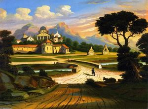 Thomas Chambers - Landscape with Walled Town
