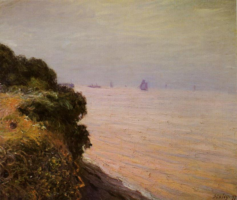Langland Bay, England, Morning, Oil On Canvas by Alfred Sisley (1839-1899, France)