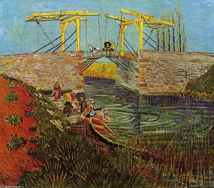 Vincent Van Gogh - The Langlois Bridge at Arles - (Famous paintings)