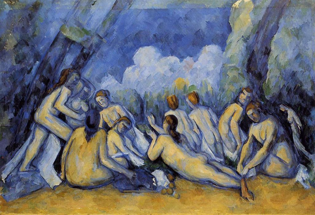 The Large Bathers, Oil On Canvas by Paul Cezanne (1839-1906, France)