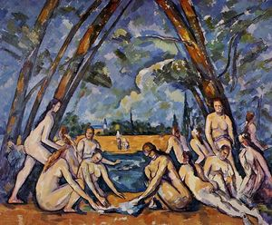 Paul Cezanne - The Large Bathers - (paintings reproductions)