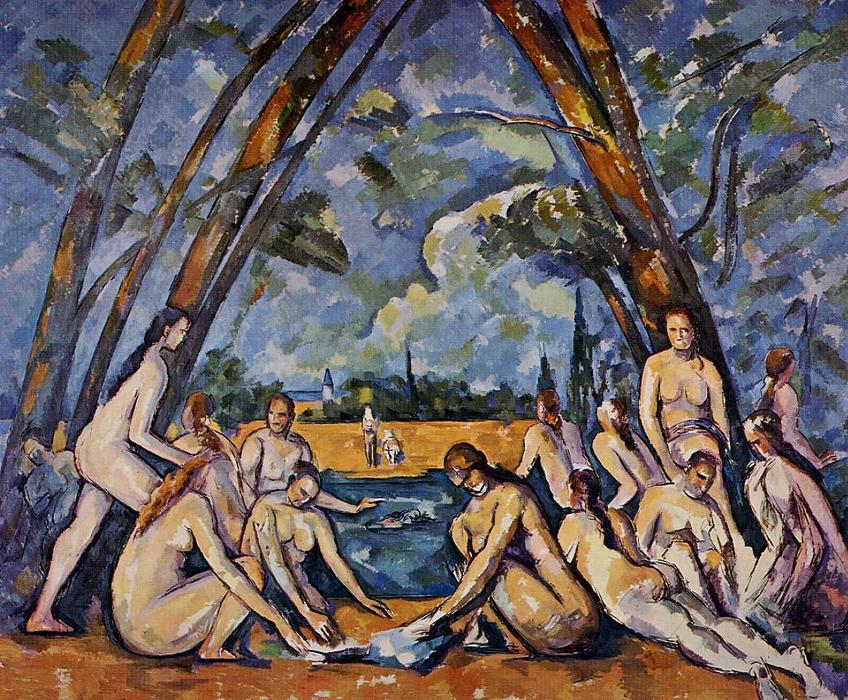 Order Reproductions | The Large Bathers, 1906 by Paul Cezanne (1839-1906, France) | WahooArt.com