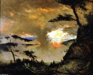 Elliott Dangerfield - Large Landscape (also known as Grandfather Mountain in the Mist)