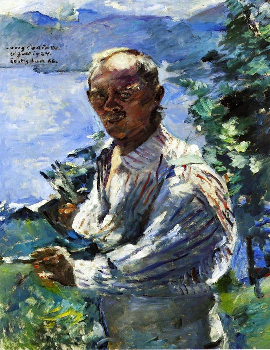 Large Self Portrait at the Walchensee, Oil On Canvas by Lovis Corinth (Franz Heinrich Louis) (1858-1925, Netherlands)