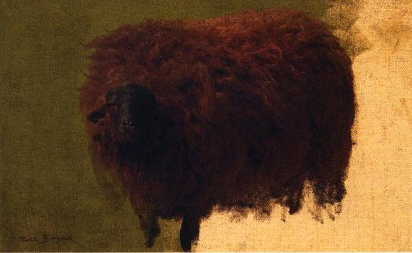 Large Wooly Sheep (also known as Wether), Oil On Canvas by Rosa Bonheur (1822-1899, France)