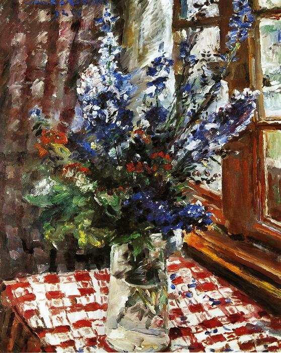Larkspur, Oil On Canvas by Lovis Corinth (Franz Heinrich Louis) (1858-1925, Netherlands)