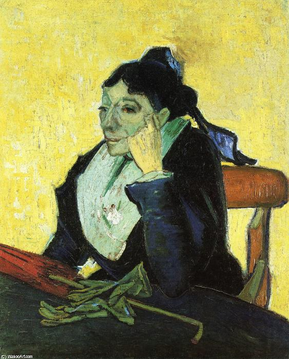 L`Arlesienne, Portrait of Madame Ginoux, 1888 by Vincent Van Gogh (1853-1890, Netherlands) | Art Reproduction | WahooArt.com