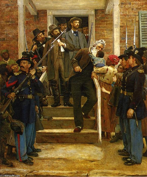 The Last Moments of John Brown, 1884 by Thomas Hovenden (1840-1895, Ireland) | Art Reproductions Thomas Hovenden | WahooArt.com