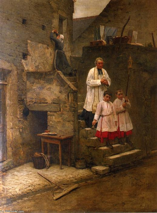The Last Sacraments, 1884 by Henry Mosler (1841-1920, Poland) | Museum Quality Reproductions | WahooArt.com