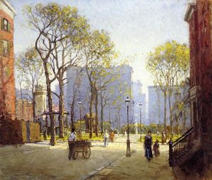 Paul Cornoyer - Late Afternoon, Washington Square