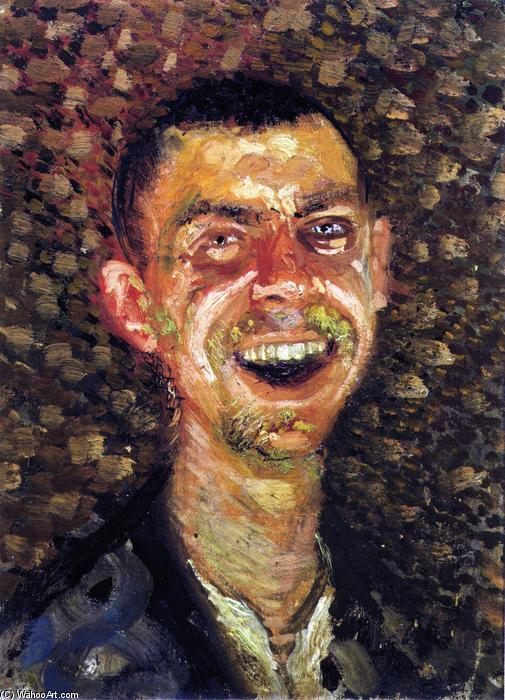 Order Paintings Reproductions | Laughing Self Portrait, 1908 by Lovis Corinth (Franz Heinrich Louis) (1858-1925, Netherlands) | WahooArt.com