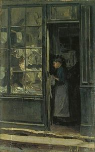 Order Paintings Reproductions | The Laundry Shop, 1885 by Walter Richard Sickert (1860-1942, Germany) | WahooArt.com