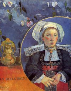 Paul Gauguin - La Belle Angele (also known as Madame Angele Satre, the Inkeeper at Pont-Aven)