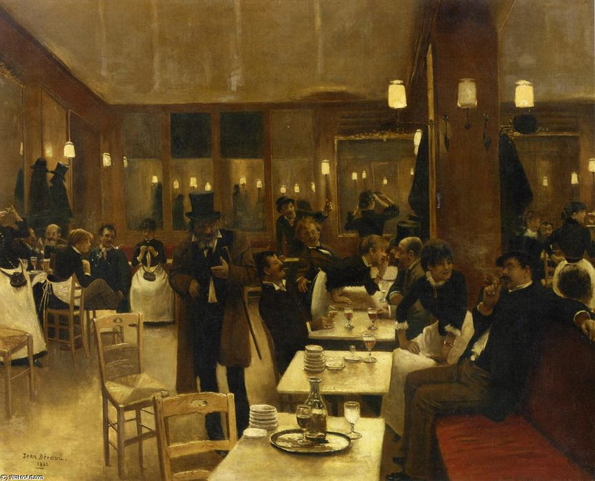 La brasserie, 1883 by Jean Georges Béraud (1849-1936, France) | Museum Art Reproductions Jean Georges Béraud | WahooArt.com