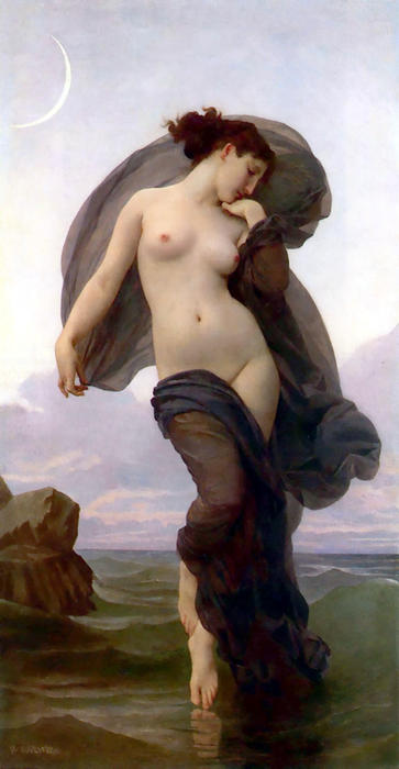 La Crepuscule (also known as Evening Mood), Oil On Canvas by William Adolphe Bouguereau (1825-1905, France)