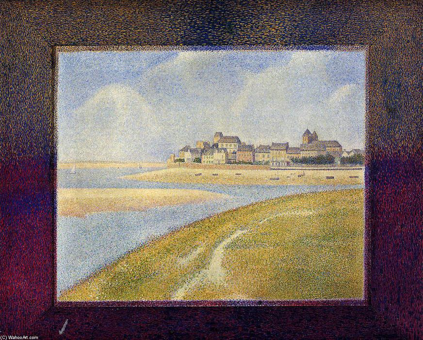 Order Art Reproductions | Le Crotoy, Upstream, 1889 by Georges Pierre Seurat (1859-1891, France) | WahooArt.com