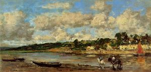 Eugène Louis Boudin - Le Faou, Banks of the River