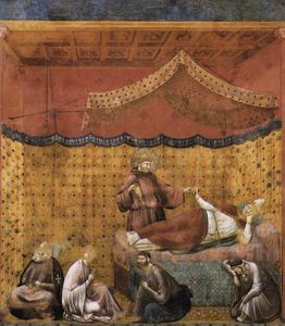 Giotto Di Bondone - Legend of St Francis: 25. Dream of St Gregory (Upper Church, San Francesco, Assisi)