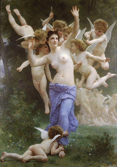 Le Guepier, Oil On Canvas by William Adolphe Bouguereau (1825-1905, France)