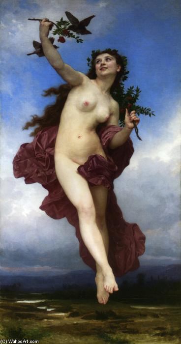 Le Jour, Oil On Canvas by William Adolphe Bouguereau (1825-1905, France)