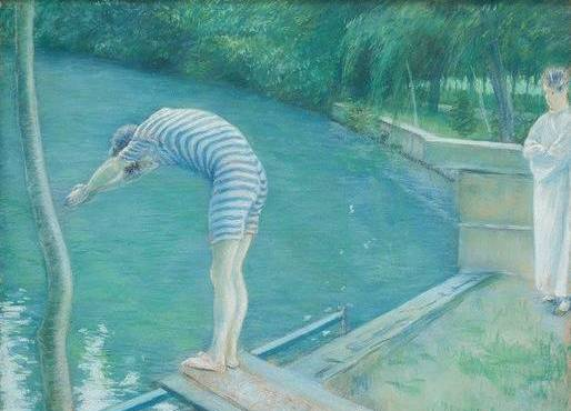 Le Nageur, 1877 by Gustave Caillebotte (1848-1894, France) | Painting Copy | WahooArt.com