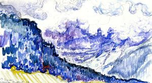 Paul Signac - Les Diablerets, Switzerland