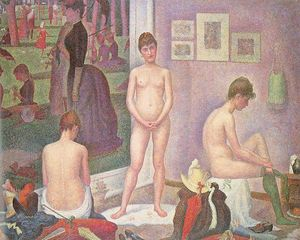 Order Paintings Reproductions | Les poseuses, 1886 by Georges Pierre Seurat (1859-1891, France) | WahooArt.com