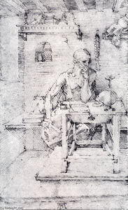 Albrecht Durer - St. Jerome In His Study (Without Cardinal`s Robes)