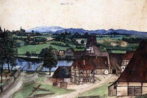 Albrecht Durer - Wire Drawing Mill