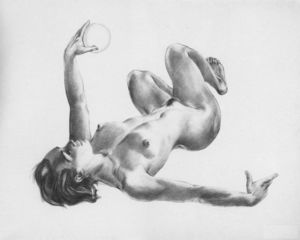 Aleksandr Deyneka - Lying with the ball
