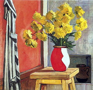 Aleksandr Deyneka - Still Life. Yellow flowers