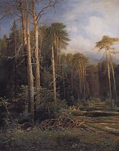 Alexei Kondratyevich Savrasov - The road in the woods