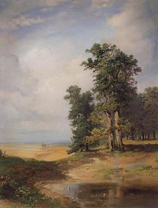 Aleksey Savrasov - Summer landscape with oaks