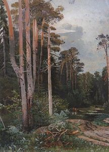 Aleksey Savrasov - Forest road in Sokolniki