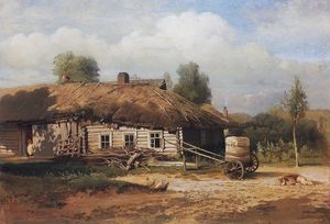 Aleksey Savrasov - Landscape with hut