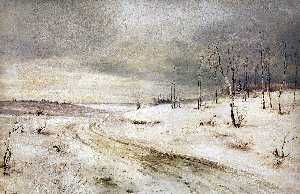 Aleksey Savrasov - Winter road