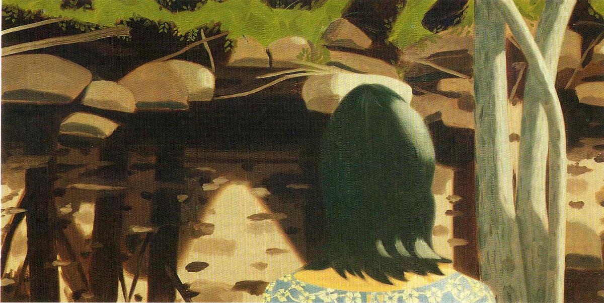 Ada in front of black brook by alex katz for Katz fine art