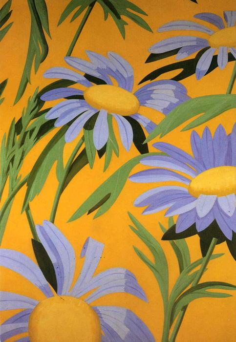 Violet daisies by alex katz for Katz fine art