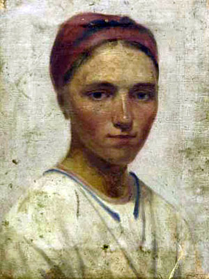 Portrait of a Peasant Girl, Oil On Canvas by Alexey Venetsianov (1780-1847, Russia)