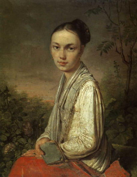Portret of V.S. Putyatina, Oil On Canvas by Alexey Venetsianov (1780-1847, Russia)